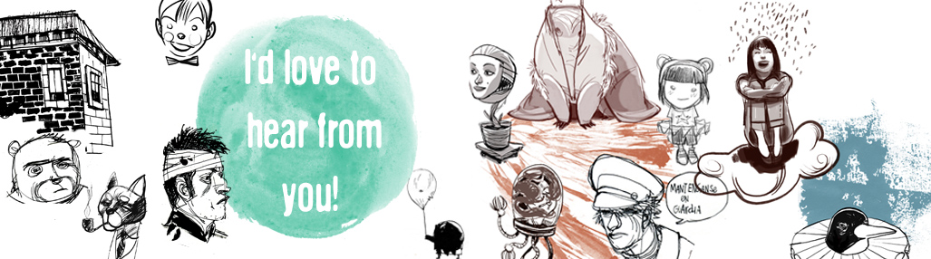 Julia Cejas Illustration - Contact Banner