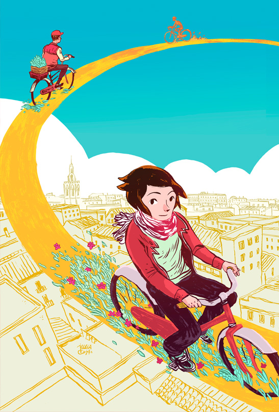 Julia Cejas Illustration - Anell Ciclista